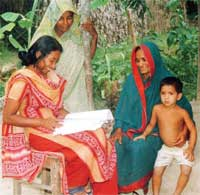 Rural women contact the Pallitathya Helpline